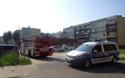 Pożar pustostanu w dzielnicy Rymera
