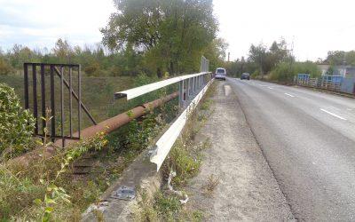 Kradzież barierek ochronnych na wiadukcie